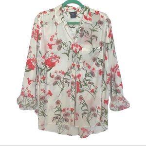 Floral Blouse - size XL